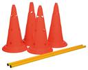 Trixie Dog Activity Agility Hindernisse Pilonen Maße: ø 30 × 50 cm, 100 cm Inhalt: 4 Pylonen, 2 Stangen, orange/gelb
