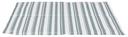 TRIXIE Hunde Kühlmatte Stripes M: 50 × 40 cm, weiß/grau