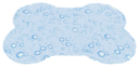 Trixie Kühlmatte Knochenform 60 x 45 cm, hellblau